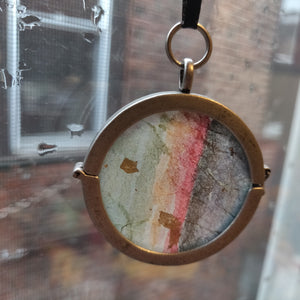 Watercolor Painting Ornament/Locket