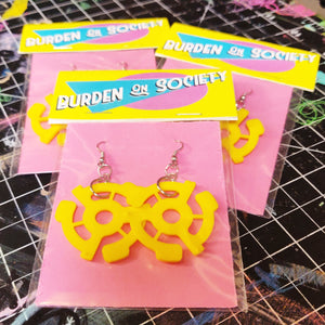45 rpm Record Adapter EARRINGS