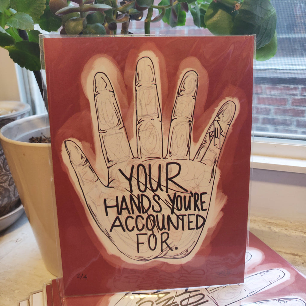 Your Hands You're Accounted For (Blur Street Art) Small PRINT