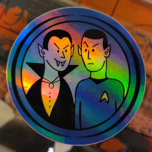 Dracula Spock Holographic STICKER