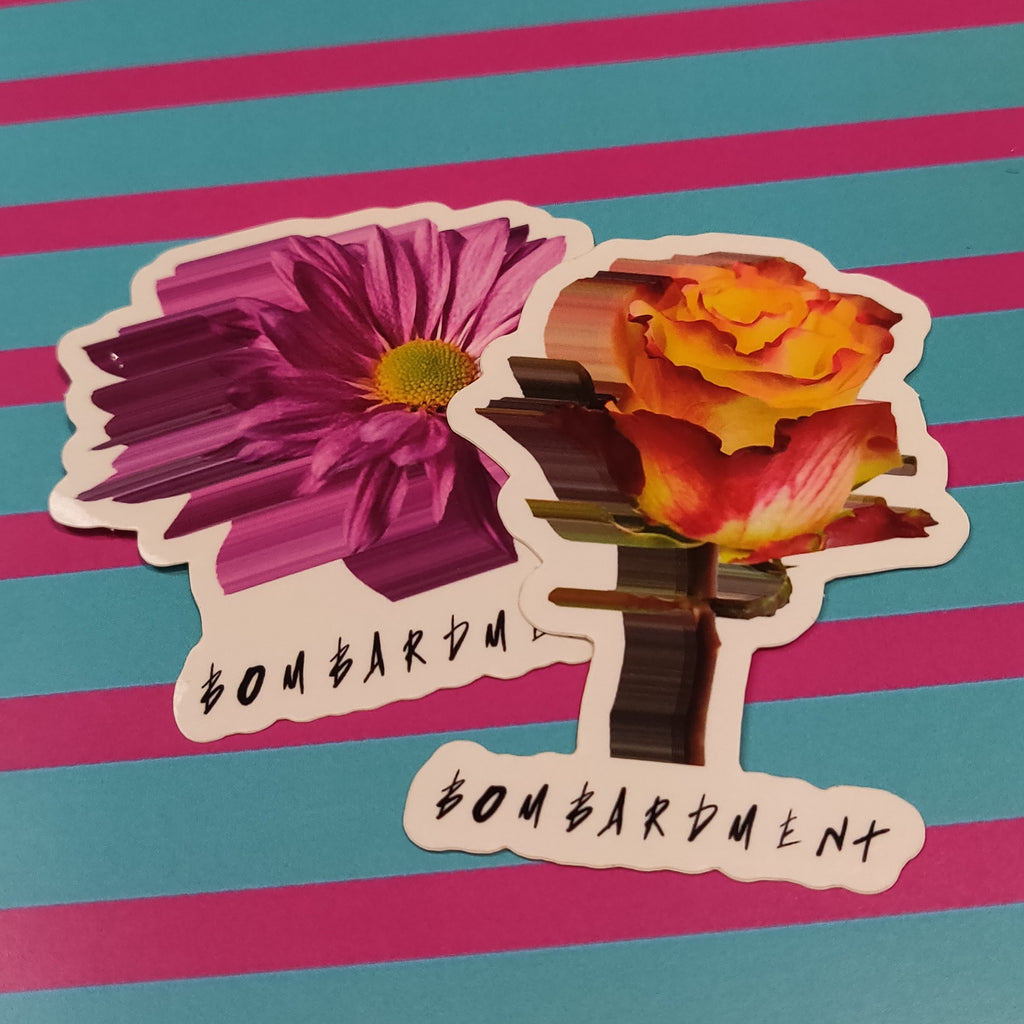 Bombardment Floral STICKERS