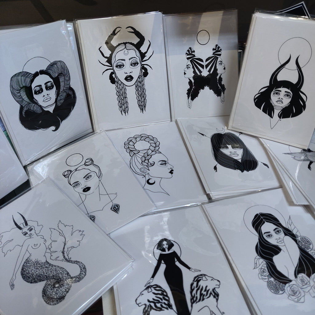 Zodiac Collection GREETING CARDs / PRINTs