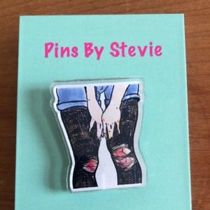 Ripped Tights Acrylic PIN