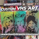 Custom VHS Tape Stencil Art by @TapedOffTV (Commissions Open!)