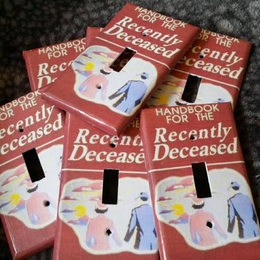 Handbook for the Recently Deceased (Beetlejuice) LIGHT SWITCH PLATE