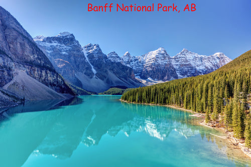 3 Banff National Park stickers for phone, tablet, laptop