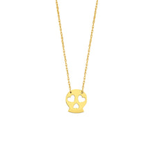 Load image into Gallery viewer, 14k yellow gold mini skull necklace
