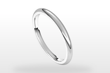 Load image into Gallery viewer, white gold wedding band
