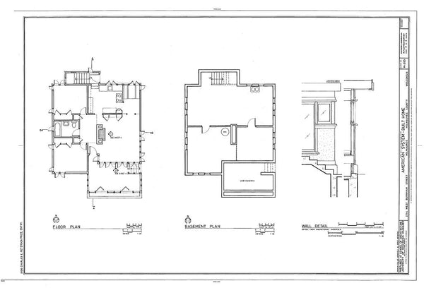 Frank Lloyd Wright house plan - Historic American Homes brand