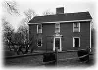 John Adams House, ca 1735 - historic Colonial home floor plans