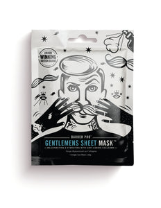 Gentlemen's Sheet Mask With Anti-ageing Collagen Beauty Pro - Barber Pro köp online