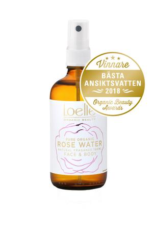 Loelle Organic Beauty 100% rent Ekologisk Rosenvatten 50ml & 100ml - vildovacker