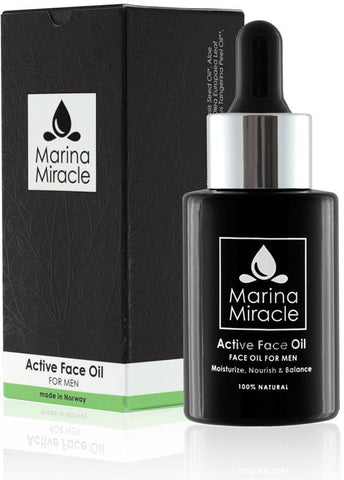Active face oil for men | Marina miracle