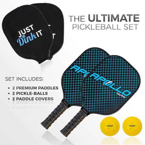 SkyRay Blue Pickleball Paddle Set