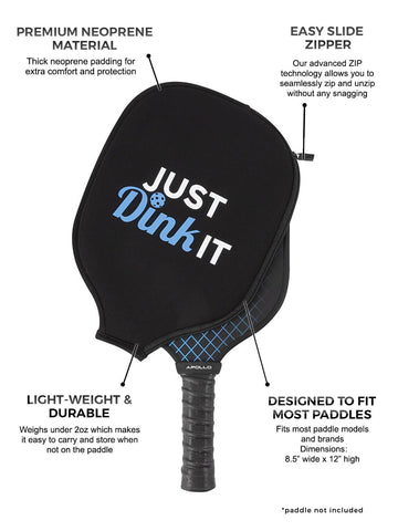 Just Dink It Pickleball Paddle Cover