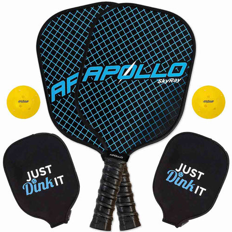 SkyRay Blue Pickleball Paddle Set (2-Pack)