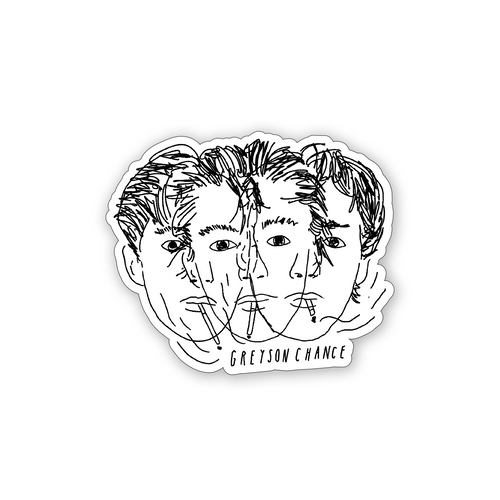 Overlapping Portraits Sticker