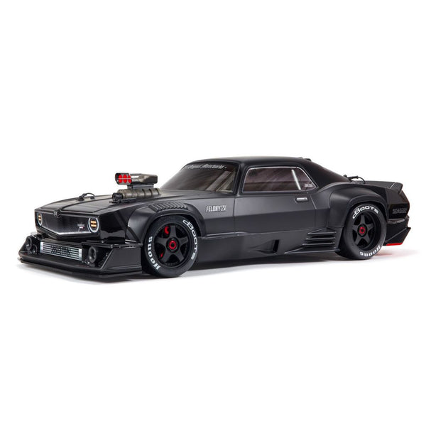 1/7 FELONY 6S BLX Street Bash All-Road Muscle Car RTR, Black - Pre Order