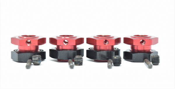 Arrma LIMITLESS 6s - 17mm Hex Hubs (Red infraction typhon senton nuts AR109011