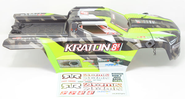 Arrma KRATON 8S - Body Shell (GREEN polycarbonate cover & Body Pins Arrma 1/5 AR110002