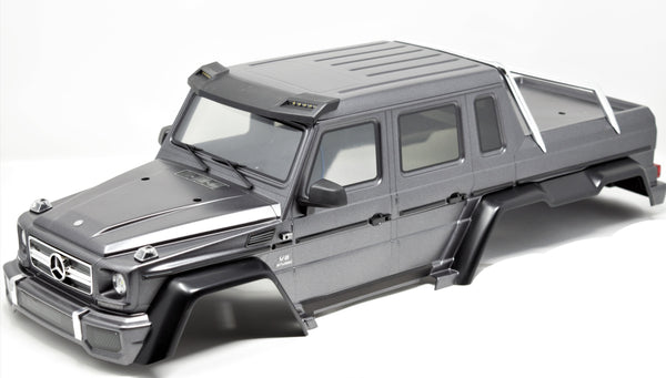 TRX-6x6 Mercedes-Benz - BODY Cover Graphite Shell decals Painted Traxxas 88096-4