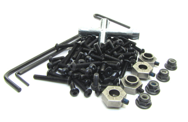 TRX-4 TRAXX - SCREWS, tools, 12mm Hex hubs nuts hardware Traxxas 82034-4