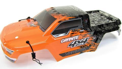 Arrma GRANITE 4x4 3s BLX - Body Shell (ORANGE/Black painted decaled AR102666