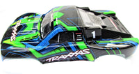 Slash 4x4 ULTIMATE BODY Shell (GREEN & Blue Cover Shell decals Traxxas 68077-4
