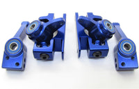SLASH 4x4 ULTIMATE BLUE Aluminum C-HUBS Steering Blocks Carriers Traxxas 68077-4