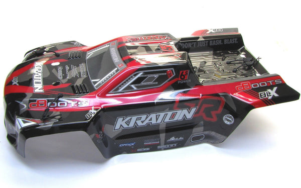 Arrma KRATON 6s BLX - Body Shell (RED polycarbonate cover & Body Pins ar106029
