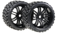 Sweep Racing SRC Monster Truck Terrain Crusher Offroad Belted Tire Black Monster Truck Rubber Tires SWSRC0002B