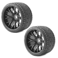 Sweep Racing SRC Monster Truck Truck Road Crusher Belted tire preglued on WHD Black wheel 2pc set