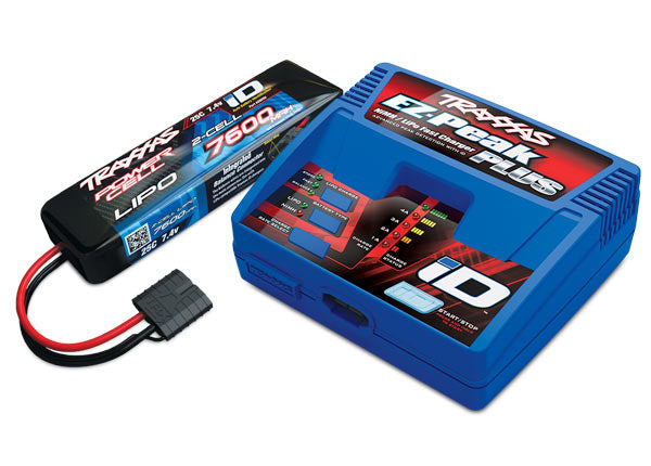 2995 - Traxxas 2S 7.4V LiPo Battery & Charger Completer Pack, 2995