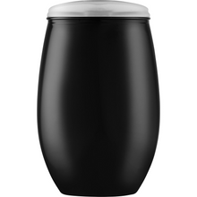 Load image into Gallery viewer, MonkeyFly Memorie Stemless Black Wine Tumbler with Lid