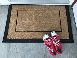 Ring Doorbell And Run. The Dog Needs Exercise Doormat