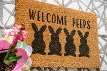 Load image into Gallery viewer, Welcome Peeps Welcome Doormat