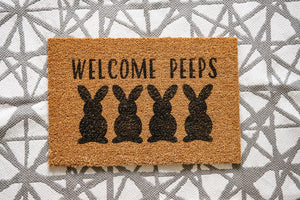 Welcome Peeps Welcome Doormat