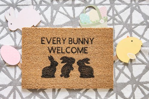 Every Bunny Welcome Doormat
