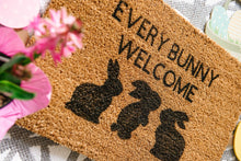 Load image into Gallery viewer, Every Bunny Welcome Doormat