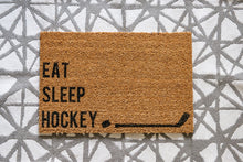 Load image into Gallery viewer, Eat. Sleep. Hockey. Welcome Doormat