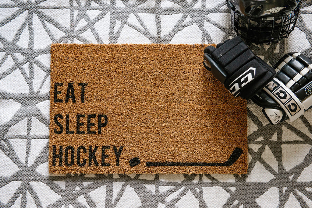 Eat. Sleep. Hockey. Welcome Doormat
