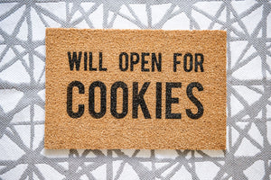Will Open for Cookies Welcome Doormat