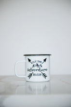 Load image into Gallery viewer, Let the Adventure Begin - 16oz Enamel Camping Mug
