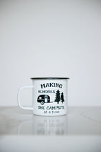 Load image into Gallery viewer, Making Memories One Campsite At A Time - 16oz Enamel Camping Mug