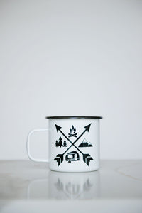 Outdoor Adventure - 16oz Enamel Camping Mug