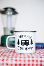 Load image into Gallery viewer, Happy Camper 16oz Enamel Camping Mug