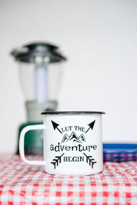 Let the Adventure Begin - 16oz Enamel Camping Mug