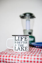 Load image into Gallery viewer, Life Is Better At The Lake 16oz Enamel Camping Mug