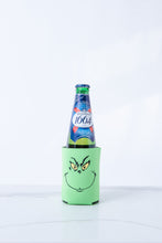 Load image into Gallery viewer, Drink up Grinches (double-sided) Lime Green Koozie