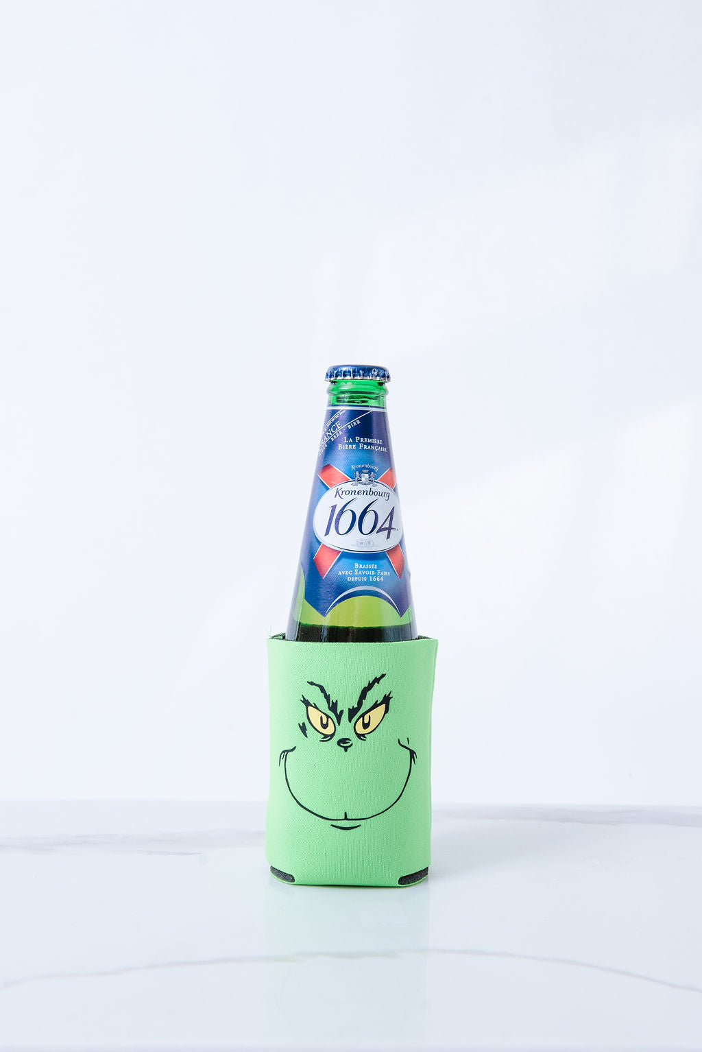 Drink up Grinches (double-sided) Lime Green Koozie